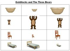 Goldilocks and the three bears size ordering - A versatile activity for size ordering.