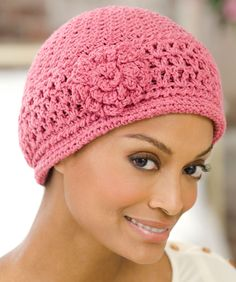 Red Heart® Chemo Cap #crochet #pattern  #breastcancerawareness