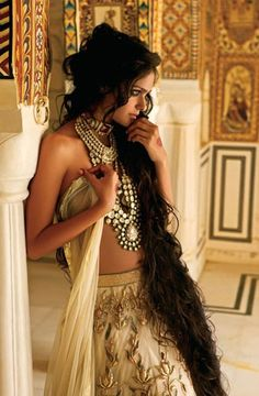 totally Indian and totally gorgeous, exotic, and regal .. L'Officiel India