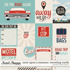 Once Upon A Summer: Traveling Cards #digitalscrapbooking #journalcards #pocketlife