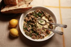 I enjoy wild mushrooms, but I happen to like ordinary white button mushrooms, too; the cultivated kind, the ones that are also called champignons de Paris (especially by the French). I suppose they are considered pedestrian in foodie circles, and that's a pity.  This recipe makes great use of them. It's a simple one, with only a few ingredients: a bit of butter, a handful of sweet herbs and some tangy crème fraîche. Try it as an easy side dish or over noodles. (Photo: Fred R. Conrad/The New ...