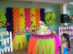 Candyland Party...love the tulle tables