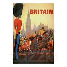 Vintage Travel Poster, Great Britain, England