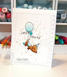 Lisa's Life Lines: Your Next Stamp August Release Birthday Blog Hop August Birthday, Boy Birthday, Birthday Cards, Rubber Stamp Company, Ink Splatter, Dog Cards, Fun Games, Paper Design, Cas