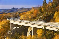 The Blue Ridge Parkway near Chetola Mountain Resort (Blowing Rock, NC) - ResortsandLodges.com #travel #vacation
