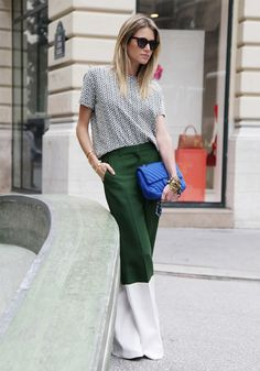 This beautiful green speaks to me // Helena Bordon #pfw #maxi