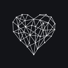 Geometric Heart Art Print by Liz Webb