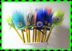 12 Party Favors Pencil Toppers Birthday Party by FunFurFunPencils