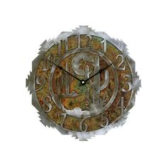 Desert Moon and Cactus Clock Quarts Movement 12 by CabinExclusive