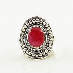 Ruby Sterling Silver Ring - keja jewelry