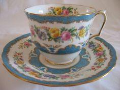 Crown Staffordshire Fine Bone China Tea Cup And Saucer photo