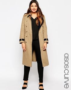 ASOS CURVE Trench in Midi Length