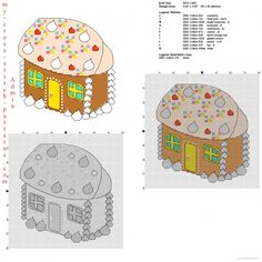 Gingerbread and candy sweets house free cross stitch pattern for Christmas ideas