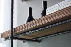 V+T Design | RAW STUFF on Behance; industrial shelf rebar
