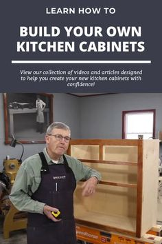 Building Kitchen Cabinets, Diy Kitchen Cabinets, Built In Cabinets, Kitchen Cabinet Design, Base Cabinets, Custom Cabinets, Woodworking Furniture Plans, Wood Pallet Furniture, Easy Woodworking Projects