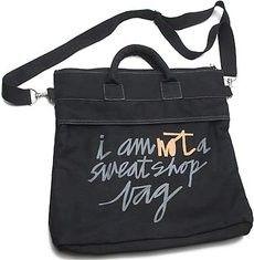Not a Sweat Shop Bag.   #Fair #Trade