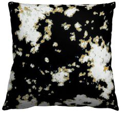 Square Throw Pillow in Batik, Black Comfort, designed by AphroChic and featured on Guildery