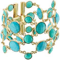 Gas Bijoux Lagoon 24kt Gold Plated Bracelet ($325) ❤ liked on Polyvore featuring jewelry, bracelets, white, polka dot jewelry, gold plated jewellery, gold plated jewelry, hinged cuff bracelet and gold plated cuff bracelet