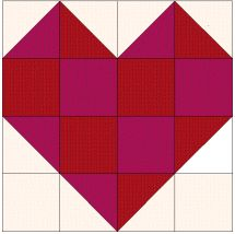 "12"" heart block. Valentines quilt? Is that a thing?"