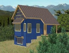 The Malina - BC Mountain Homes Plan #A002 - 484 sq/ft - floorplan : bcmountainhomes