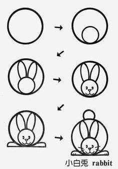 Many younger child drawing guides Cute Easy Drawings, Art Drawings For Kids, Drawing For Kids, Animal Drawings, Art For Kids, Crafts For Kids, Drawing Lessons, Drawing Tips, Art Lessons