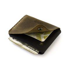 Snap Leather Wallet men wallet women wallet hand by AtelierPall