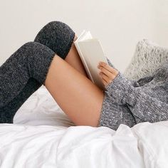 sweater + thigh high socks