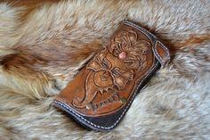 Купить Фентези классик стиль портмоне кожаный Лед и Пламя - портмоне, портмоне мужской