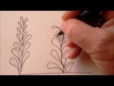 How to draw tanglepattern Flux - YouTube
