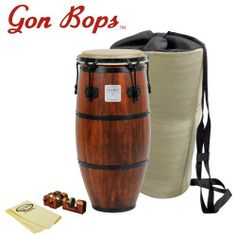 """Gon Bops Mariano Series 11.5"""" Conga (MB1150) - Includes: Universal Conga Risers, GoDpsMusic Polish Cloth and Carrying Bag by Gon Bops. $419.00. Gon Bops modern version of Mariano Bobadilla's legendary instruments. Their vintage character has been preserved using traditional counter hoops, Gon Bops natural hide heads and Durian wood construction. One-of-a-kind, Mariano drums offer authentic sound, from big, beefy open tones to crisp slaps and solid palm sounds. If yo..."""