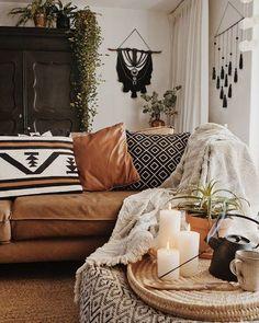 Home Interior Salas .Home Interior Salas Boho Living Room, Living Room Decor, Bedroom Decor, Bohemian Living, Decor Room, Room Decorations, Modern Bedroom, Bedroom Ideas, Room Art