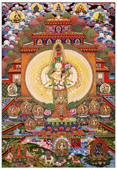 Thousand armed Avalokiteshvara