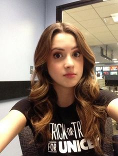 """Laura Marano was getting ready earlier this morning (October to talk about Trick-or-Treat for UNICEF with """"The Couch."""" The """"Austin & Ally"""" Selfies, Big Bang Theory Quotes, Vanessa Marano, Austin And Ally, Famous Girls, Celebs, Celebrities, Bad Hair, Cute Woman"""