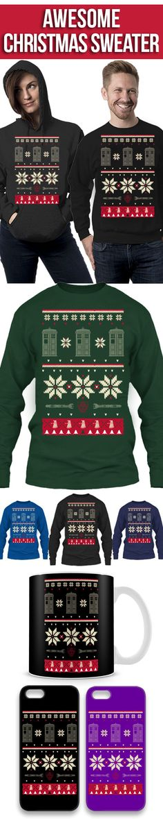 Limited Edition Christmas Sweater For Dr. Who Fans! Click The Image To Buy It Now or Tag Someone You Want To Buy This For. #drwho