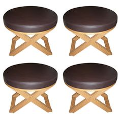 1stdibs.com | Four End of 20th Century Stools by J.-M. Frank and A. Chanaux