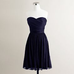 navy bridesmaid dress @Kayla White- now picture it with cowboy boots and a yellow rose!