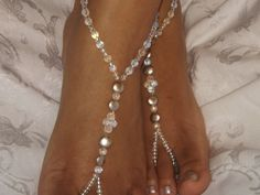 Barefoot Sandals Wedding Jewelry Rhinestone Bridal Jewelry Bridal Accessories on Etsy, $27.00
