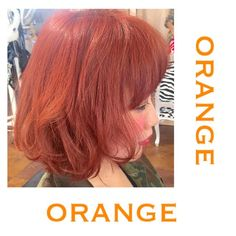 「暗髪・寒色ヘアカラーに飽きたら、とびっきりキュートなオレンジカラーに!」に含まれるinstagramの画像|MERY [メリー]