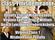 http://www.srislawyer.com/tag/virginia-class-1-misdemeanor    class 1 misdemeanor        Virginia Reckless Driving      Virginia DUI      Virginia Assault & Battery      Virginia Driving On Suspended License      SOCIAL LINKS:    Like us on Facebook 	: http://www.facebook.com/pages/Legal-Helping/490190651015927  Linkedin		: http://www.linkedin.com/pub/legal-helping/58/823/236  Follow us on Twitter 	: https://twitter.com/LegalHelping  Pinterest		: http://pinterest.com/legalhelping/