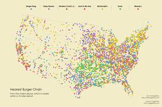 Find Out The Nearest Burger Joint #Food #DataViz #datavisualization #becomingvisual
