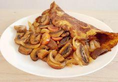 Kastanjechampignons met omelet Low Carb Lunch, High Tea, Lose Belly, Cheddar, Sugar Free, Slow Cooker, Oven, Paleo, Brunch