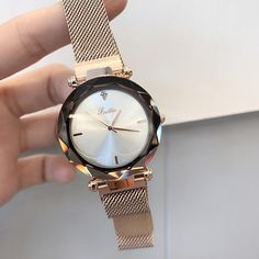 There is always many products on sae upto - 2019 Luxury Brand lady Crystal Watch Magnet buckle Women Dress Watch Fashion Quartz Watch Female Stainless Steel Wristwatches - Fast Mart Sport Watches, Watches For Men, Women's Dress Watches, Watch Holder, Beautiful Watches, Elegant Watches, Stylish Watches, Casual Watches, Silver Pocket Watch