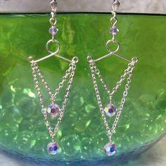 Violet Swarovski Crystal Chandelier Earrings