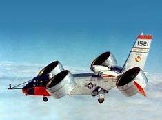 Bell X-22, vertical taoke-of and landing research aircraft with tilting ducted propellers.