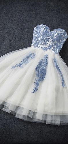 A-line Homecoming Dress Applique Tulle Blue Short Prom Dress Cheap On Sale. Source by amyprom_d : A-line Homecoming Dress Applique Tulle Blue Short Prom Dress Cheap On Sale. Source by amyprom_dress prom dress Quinceanera Dresses Short, Cheap Short Prom Dresses, Elegant Homecoming Dresses, Dresses Elegant, Hoco Dresses, Prom Dresses For Sale, Prom Party Dresses, Dress Party, Formal Dresses Short Blue
