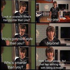 Haha James Diamond is so funny! But I'm also glad he's not like that in real life. Just so your not confused his name is James Diamond on the show Big time rush and his real name is James Maslow