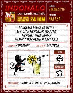 Kode Main 6D Togel Wap Online Live Draw 4D Indonalo Makassar 5 Januari 2017