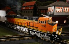 Buy It Now or Find It Locally http://mthtrains.com/30-20312-1 On the rails today the just arrived and in-stock MTH RailKIng O Gauge BNSF ES44AC 30-20312-1. The RailKing ES44AC operates on O-31 curves and this new BNSF model has a MSRP of $329.95. Ask your MTH Dealer about getting one today.