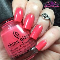 14 Days of Valentine's Day: Day 2 China Glaze Strike a Rose 14 Days 14 pink polishes 14 red polishes China Glaze nail polish swatches pink polish red polish Strike a Rose swatches valentines day polish