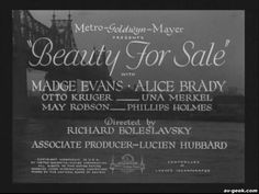 Beauty for Sale 1933